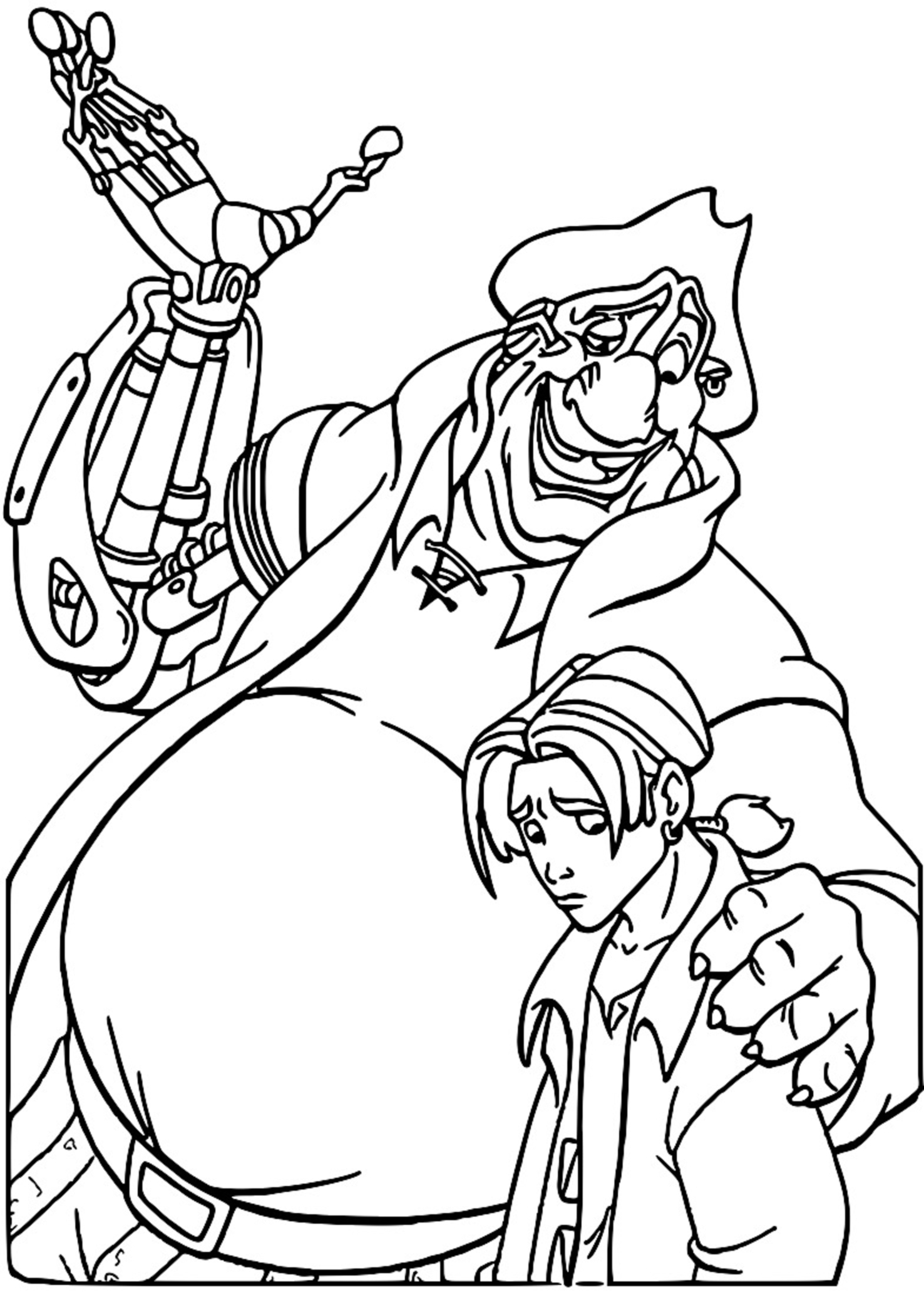 Treasure Planet im43 Coloring Pages_Cartoonized