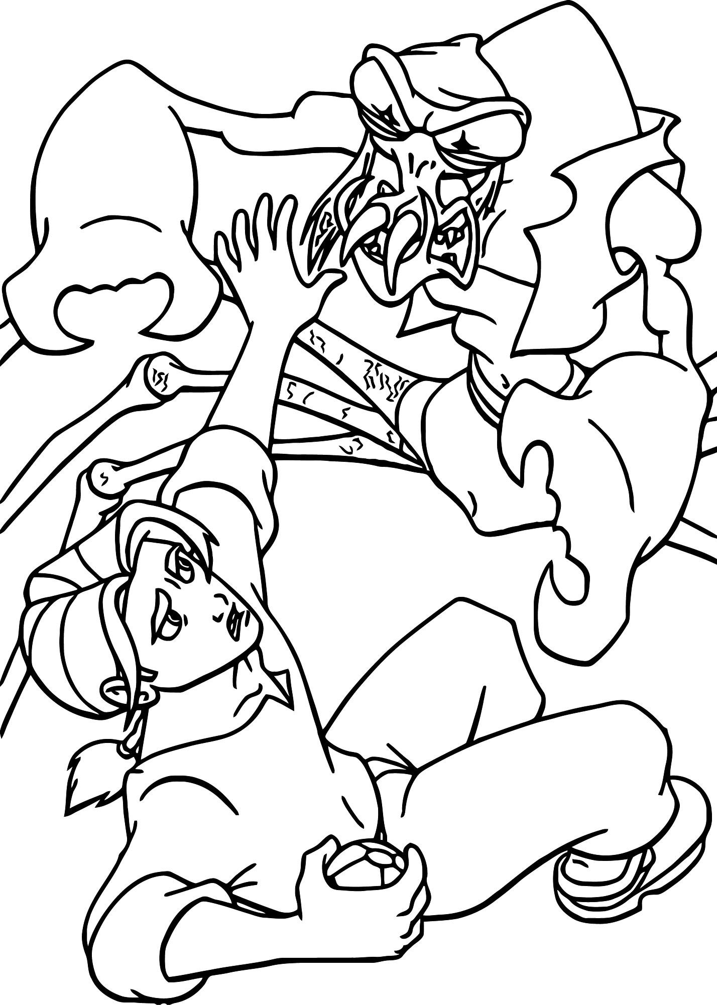 Treasure Planet jim 3 Coloring Pages Cartoon