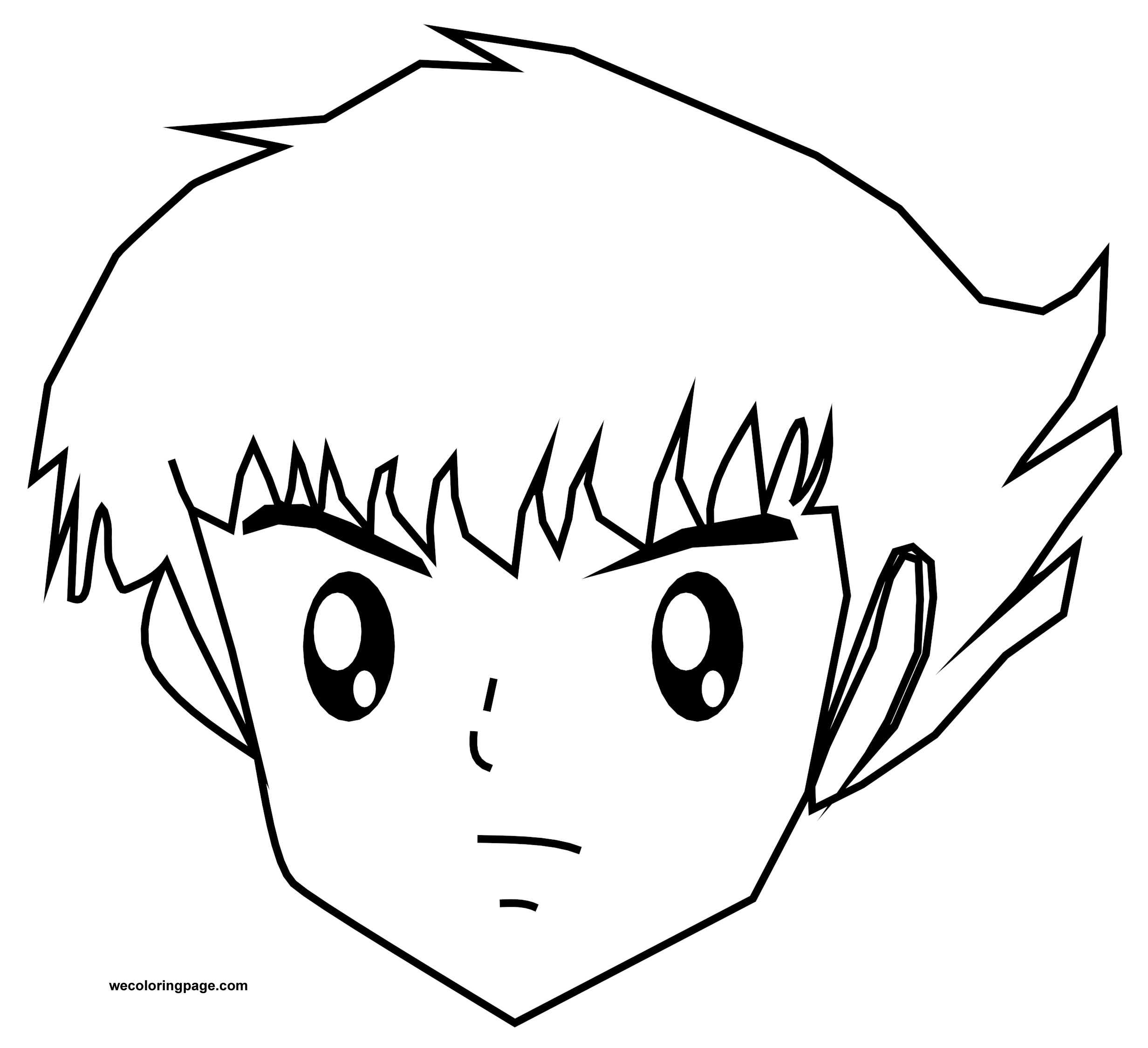 Tsubasa Captain Face Coloring Page