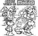 Turma Da Mônica 1995 Cartoon Coloring Page