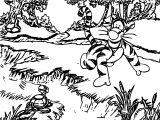 Turtle Tigger Coloring Page