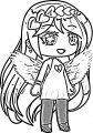 Valentina Gacha Life Angel Wings Coloring Page