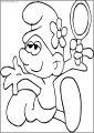 Vanity Smurf Glovey Story Smurf Free Printable Coloring Page