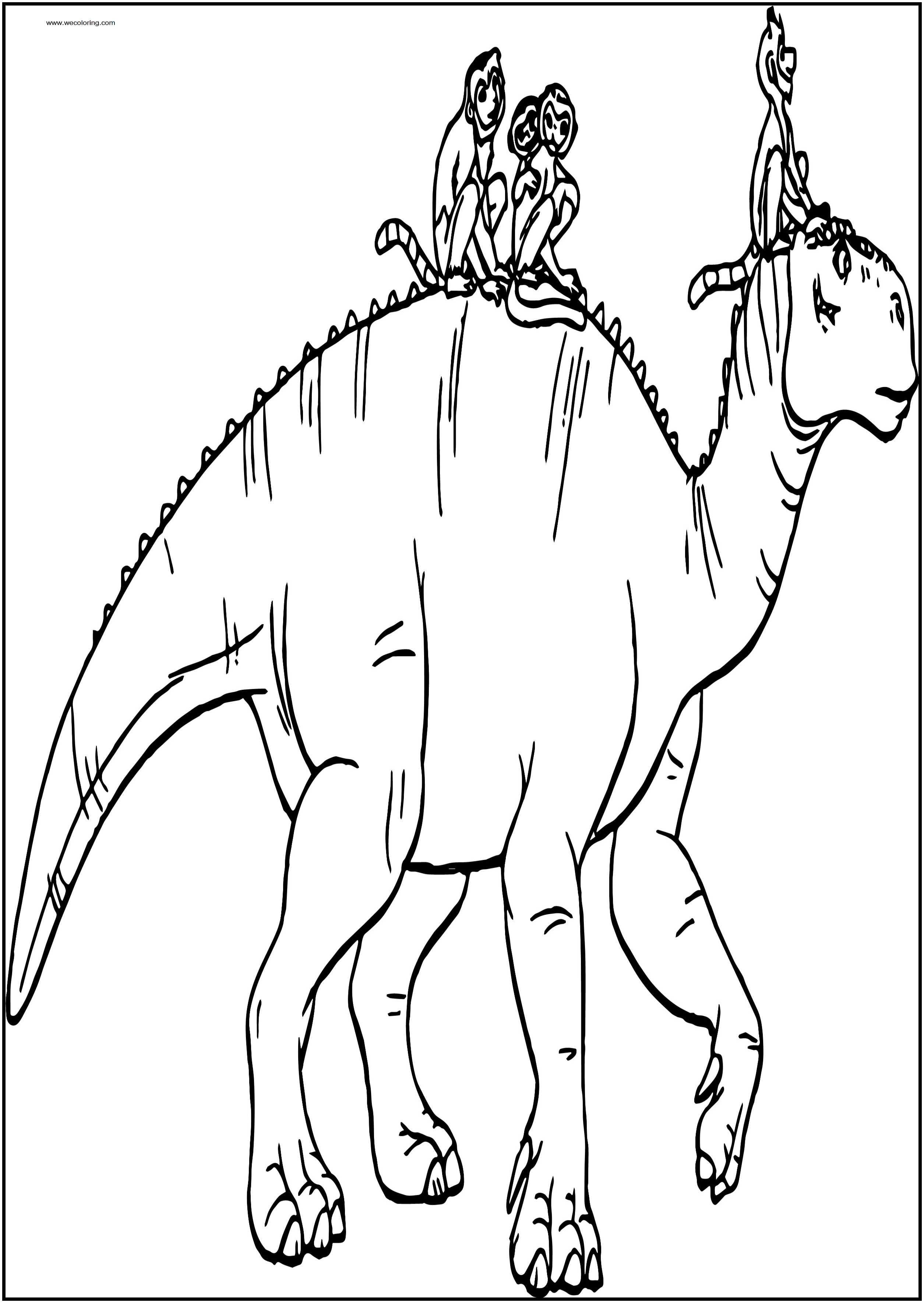 Walking Disney Dinosaur Free Printable Coloring Pages
