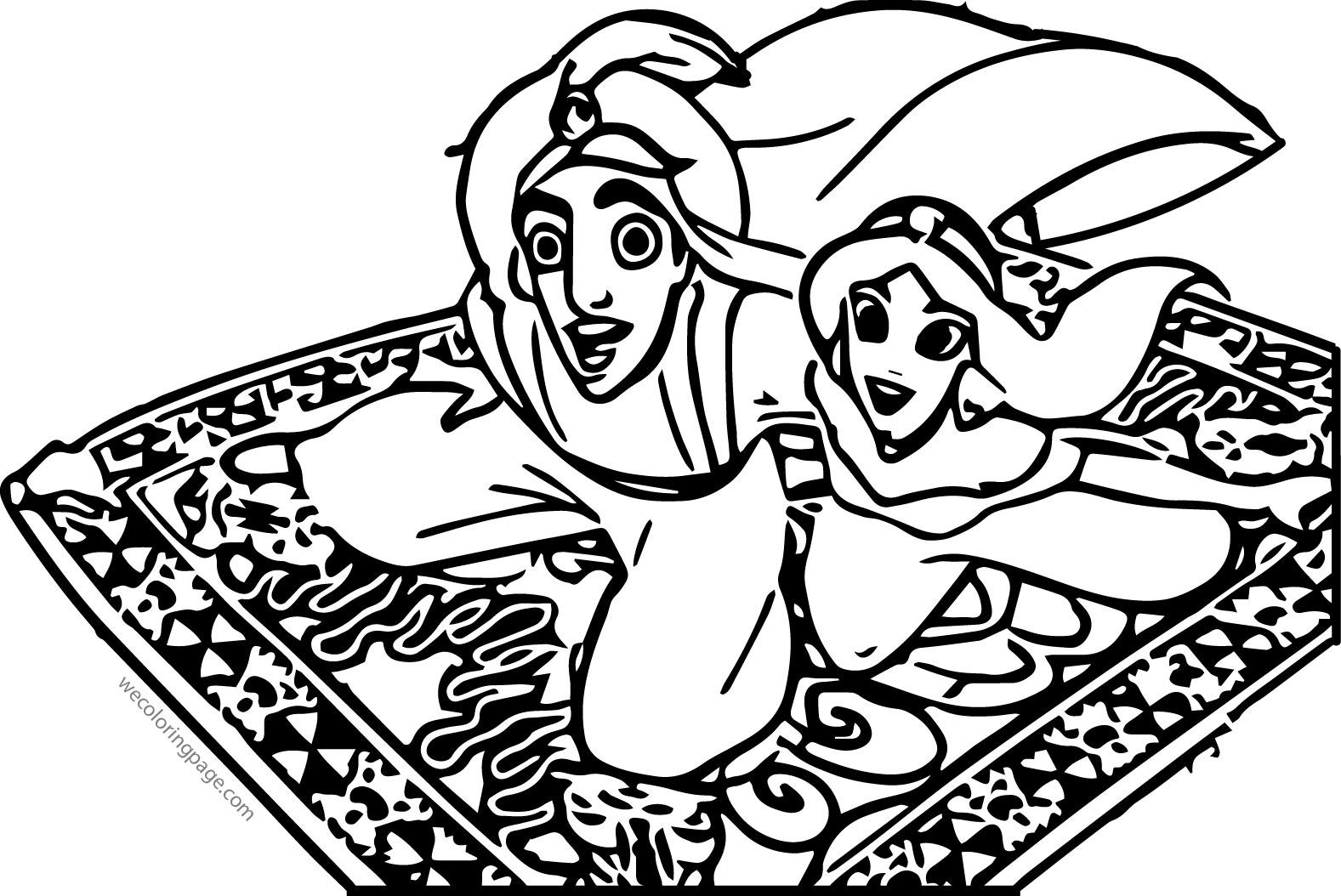 Walt Disney Prince Aladdin Walt Disney Characters Coloring Page  28