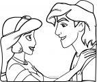 Walt Disney Prince Aladdin Walt Disney Characters Coloring Page  33