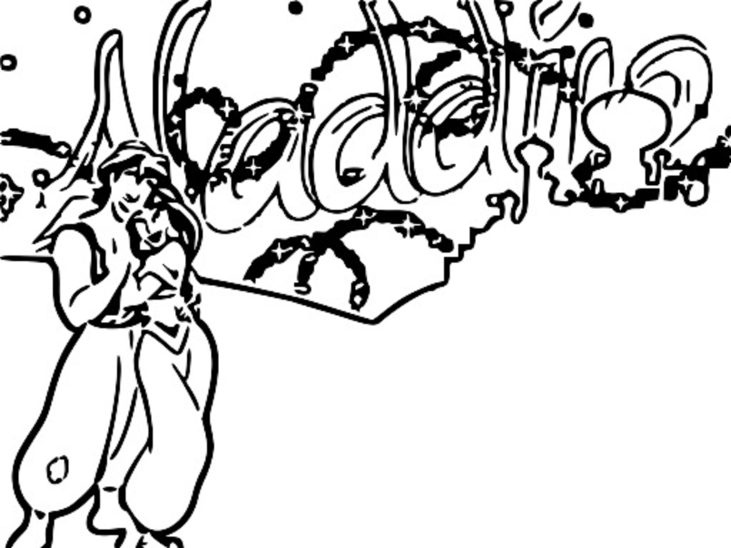 Walt Disney Prince Aladdin Walt Disney Characters Coloring Page  42