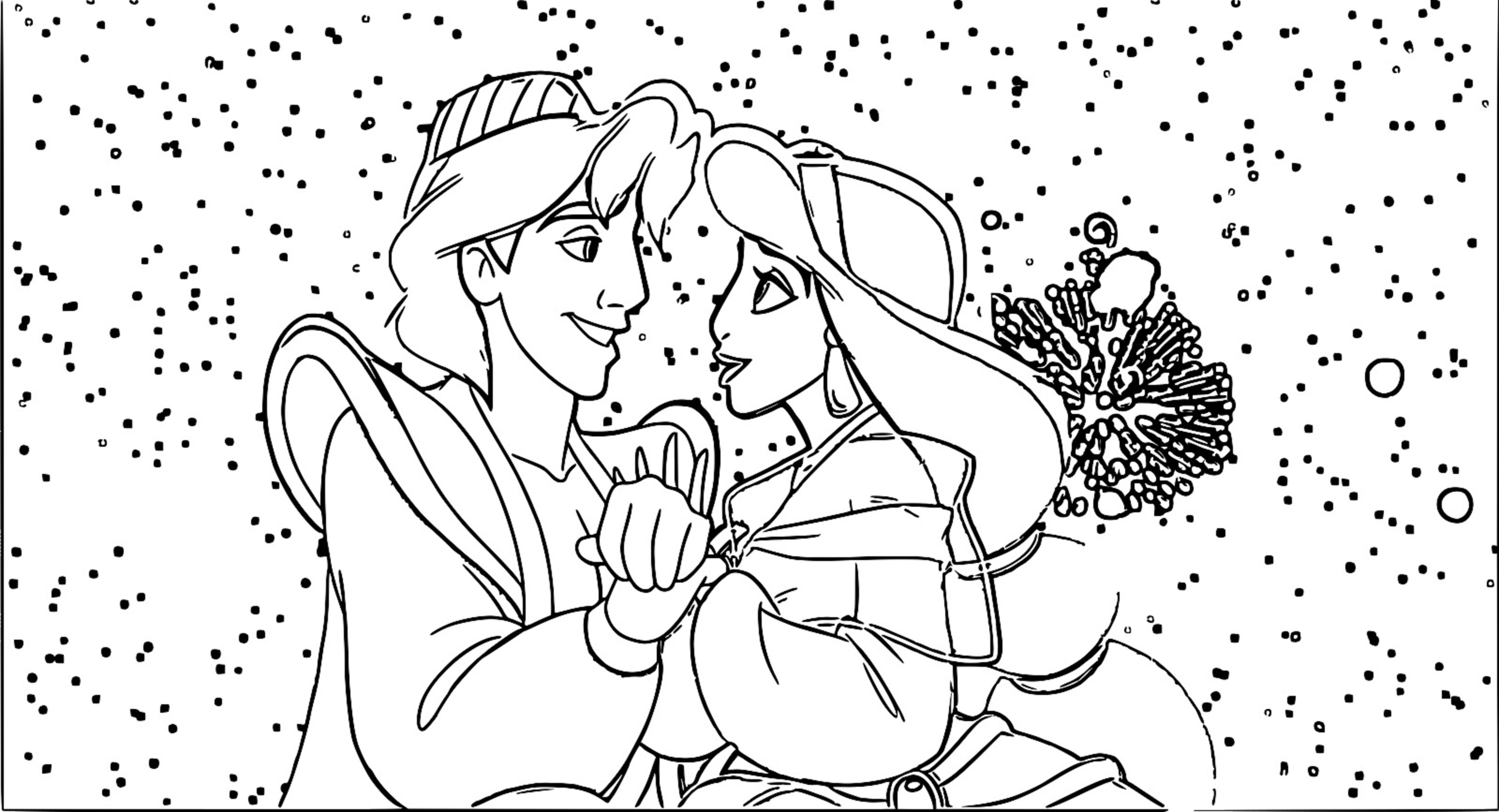 Walt Disney Prince Aladdin Walt Disney Characters Coloring Page  56