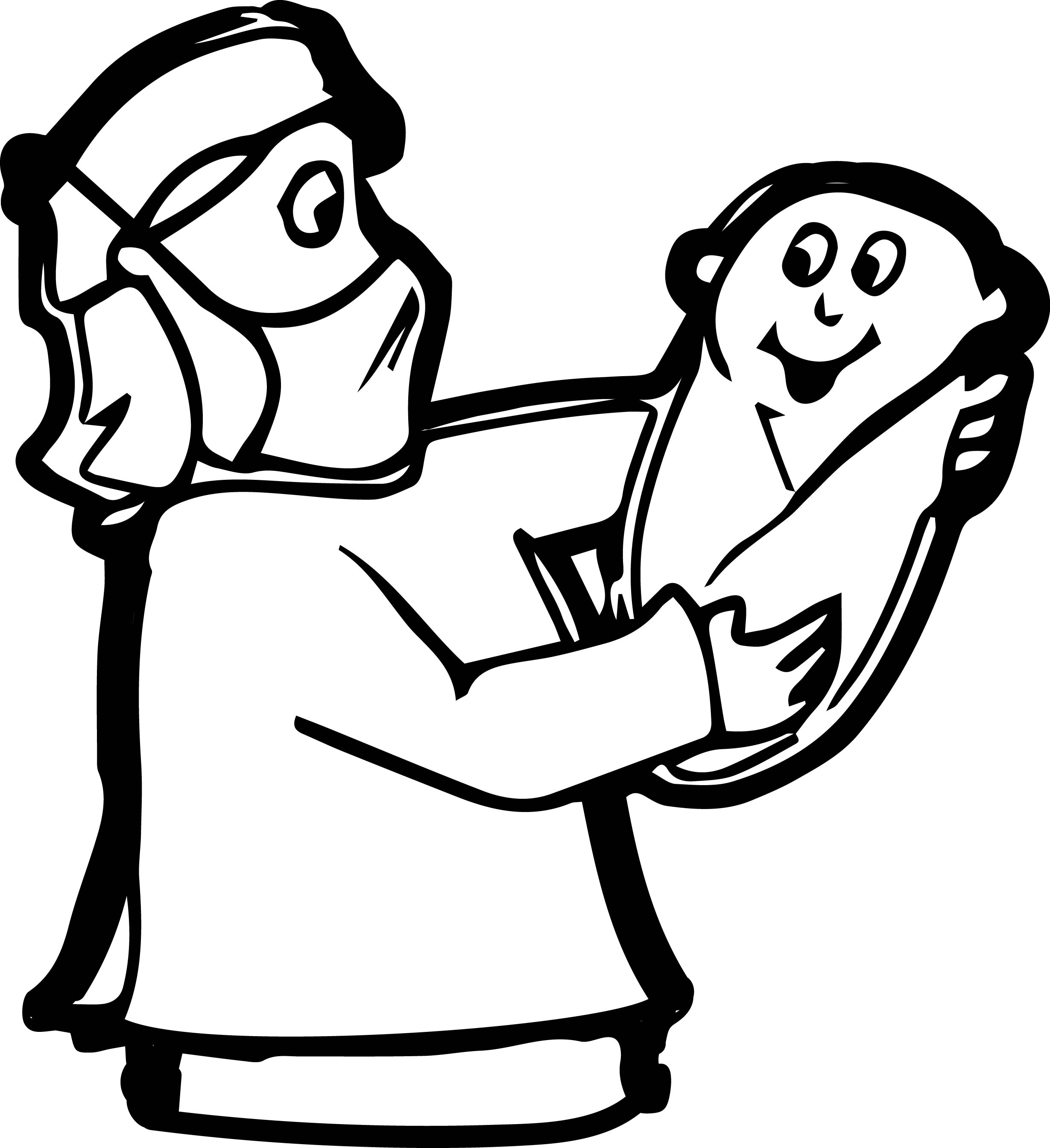 Welcome Baby Hand Doctor Coloring Page