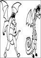 Wide And Big American Dragon Jake Long Free A4 Printable Coloring Page