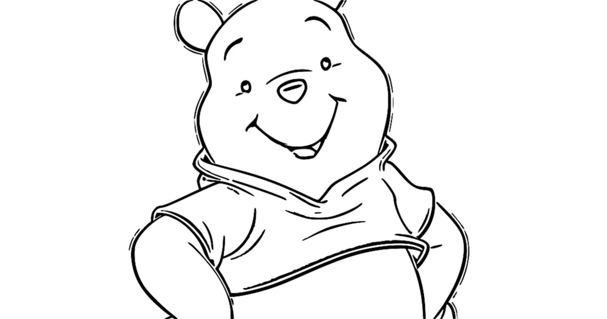 Winnie The Pooh Cartoon Coloring Page
