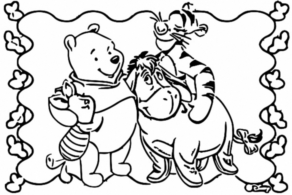 Winnie The Pooh Coloring Page 002