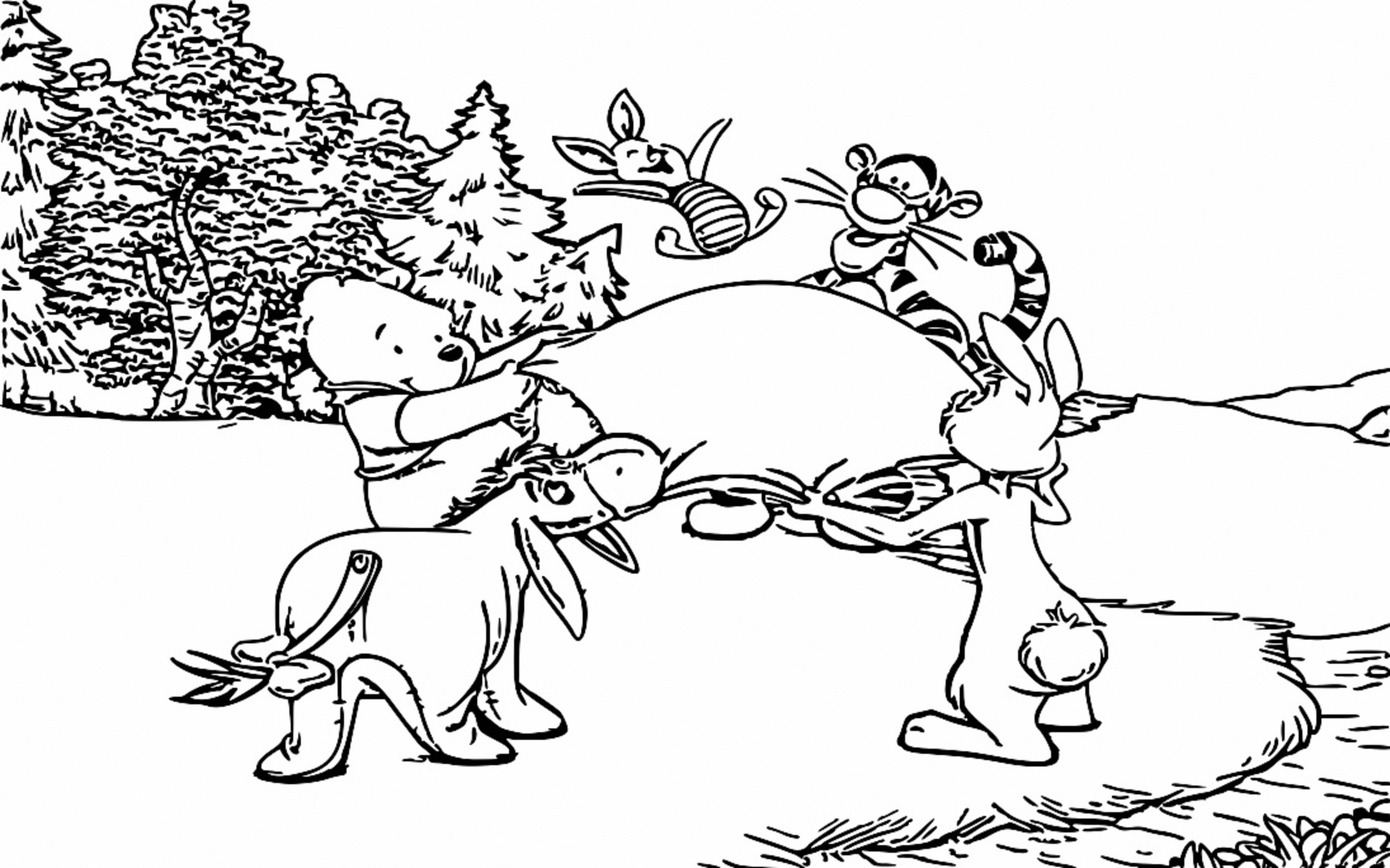 Winnie The Pooh Coloring Page 015