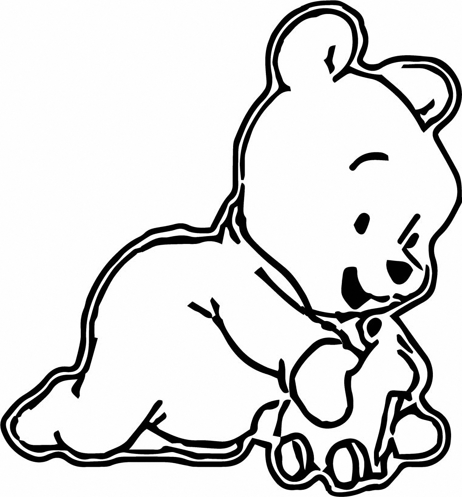 Winnie The Pooh Coloring Page 016