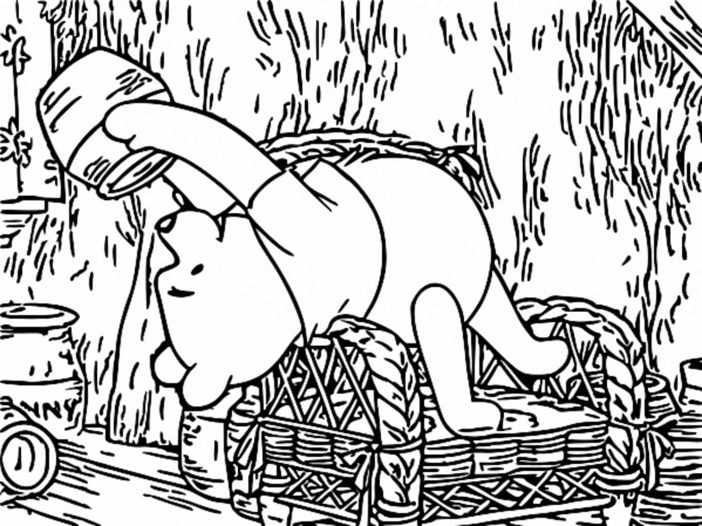 Winnie The Pooh Coloring Page 018