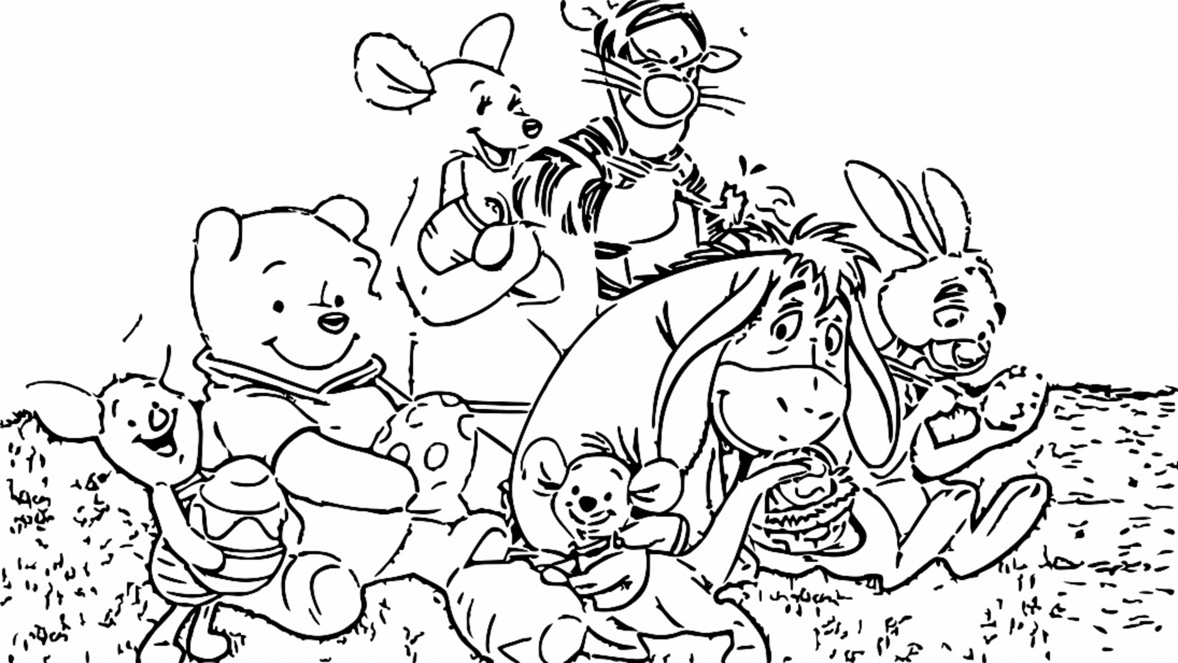 Winnie The Pooh Coloring Page 033