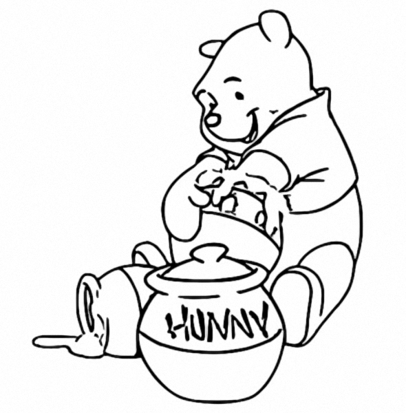 Winnie The Pooh Coloring Page 046