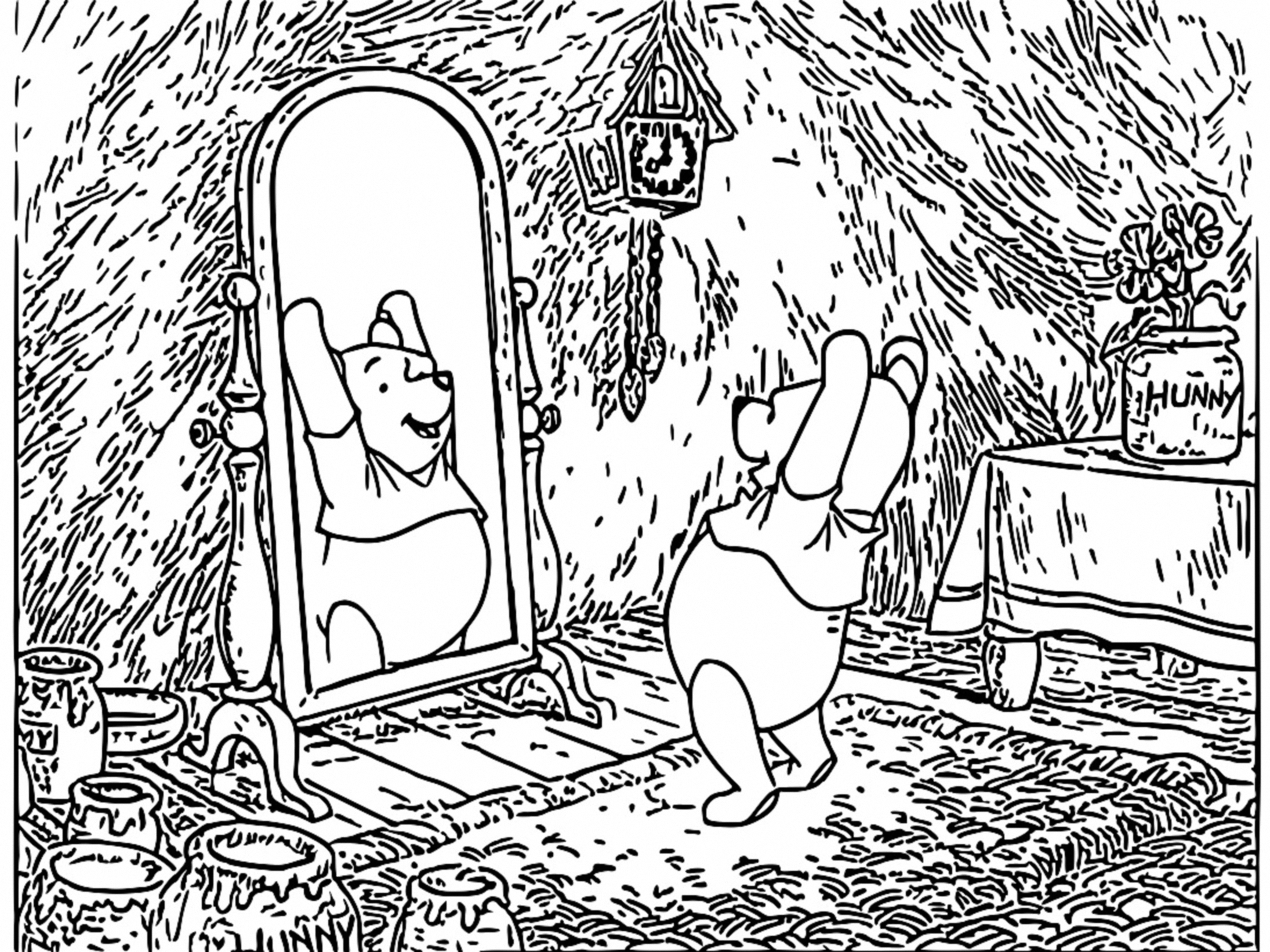 Winnie The Pooh Coloring Page 049