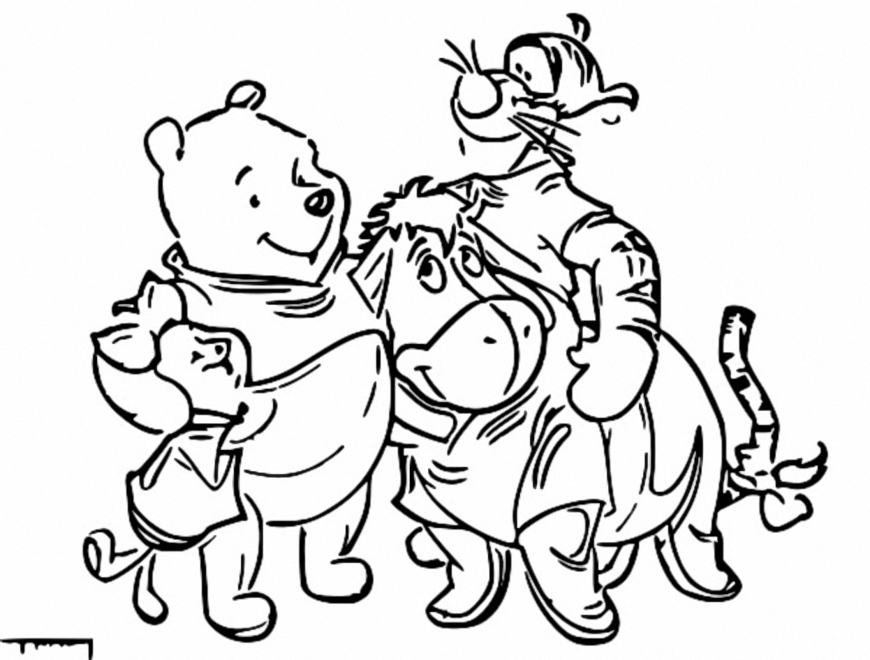 Winnie The Pooh Coloring Page 056
