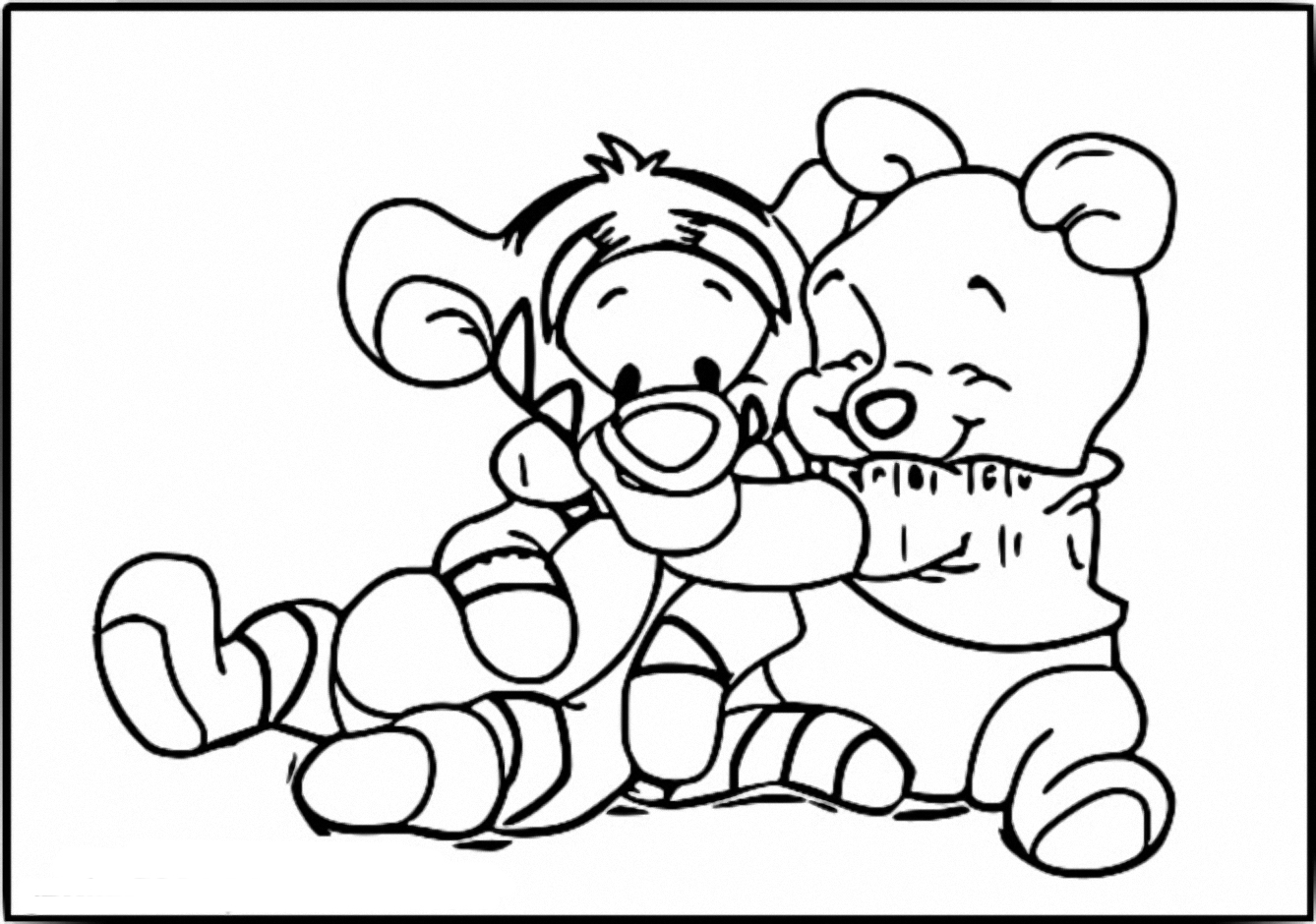 Winnie The Pooh Coloring Page 061