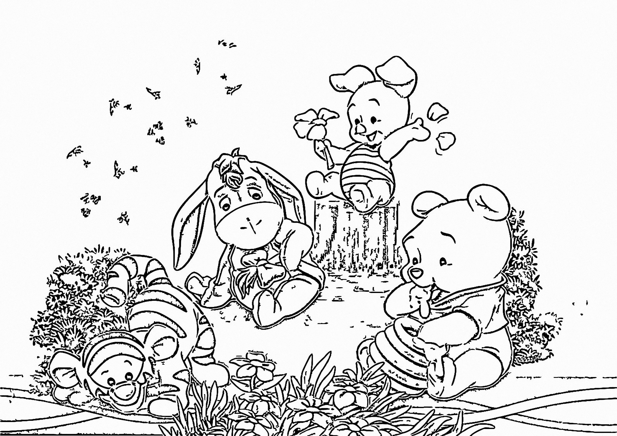Winnie The Pooh Coloring Page 064