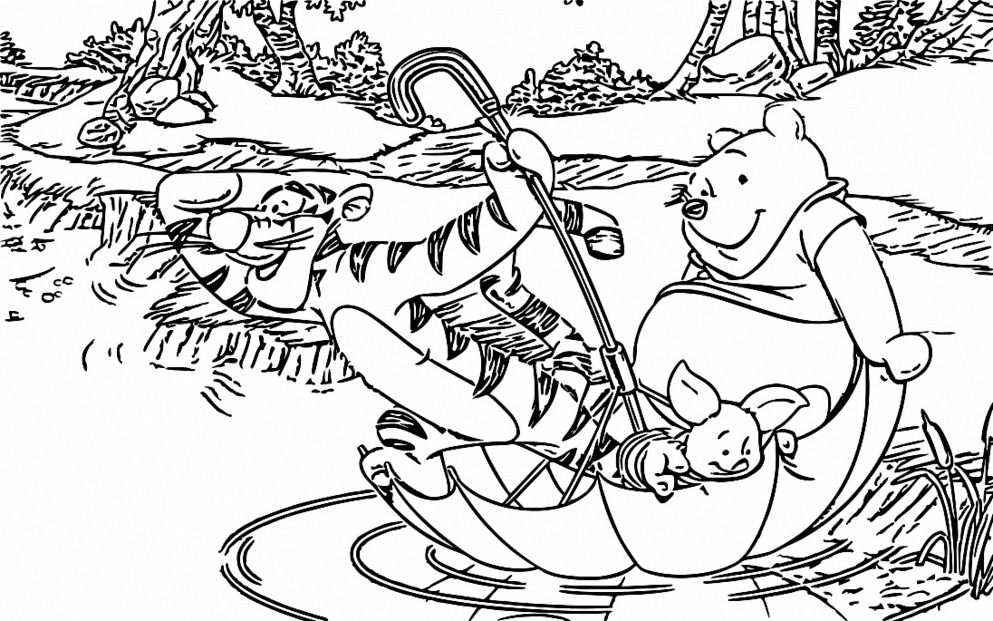 Winnie The Pooh Coloring Page 068