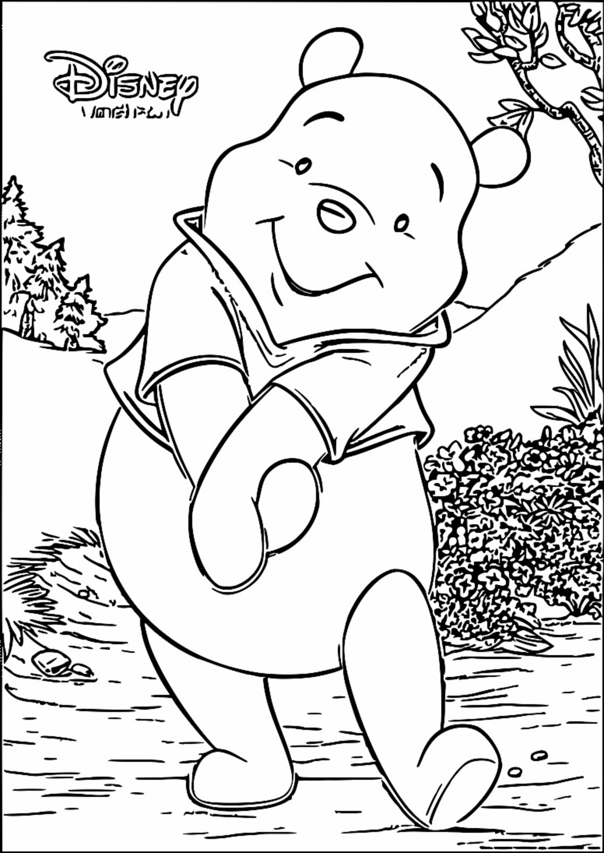 Winnie The Pooh Coloring Page 085