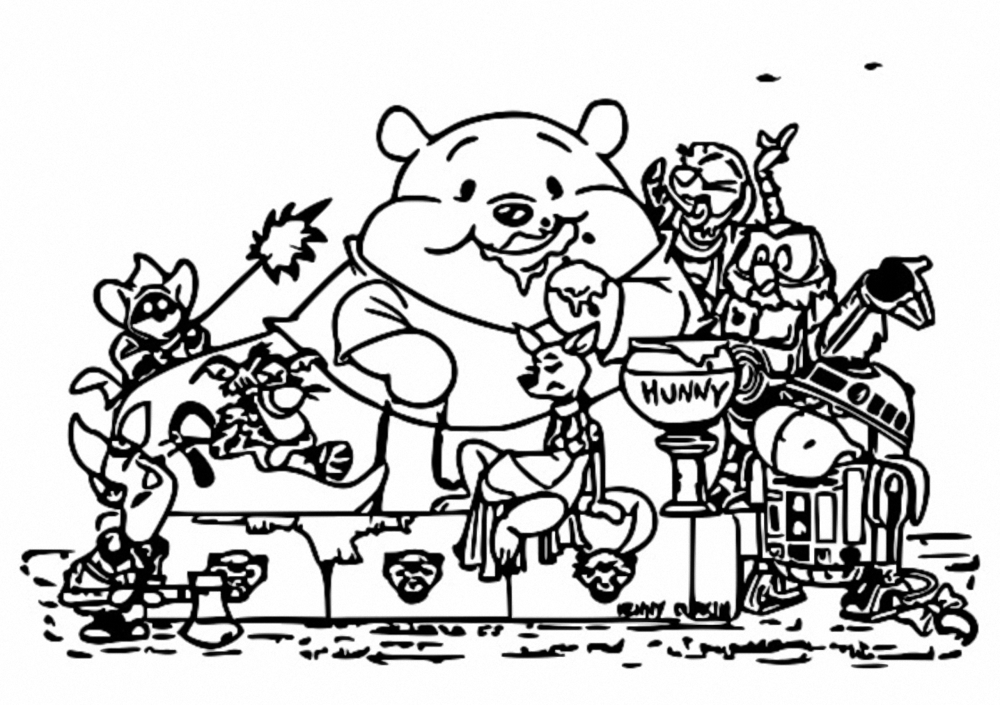 Winnie The Pooh Coloring Page 086
