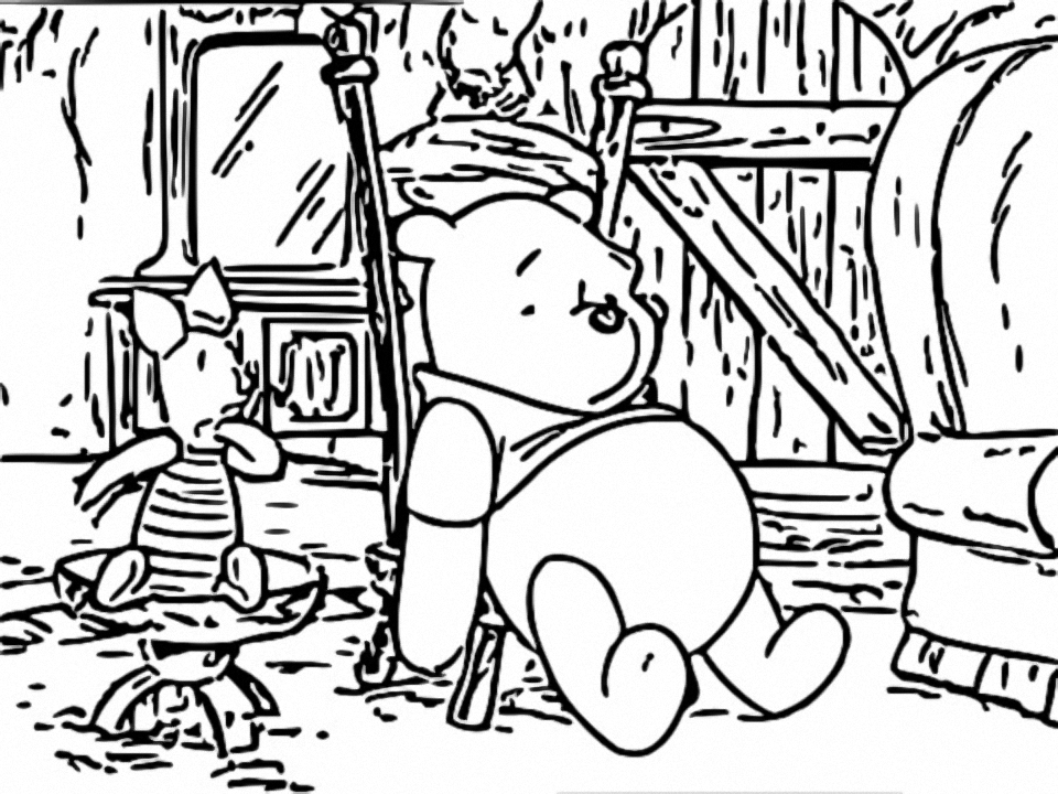 Winnie The Pooh Coloring Page 090