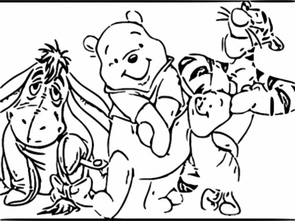 Winnie The Pooh Coloring Page 097