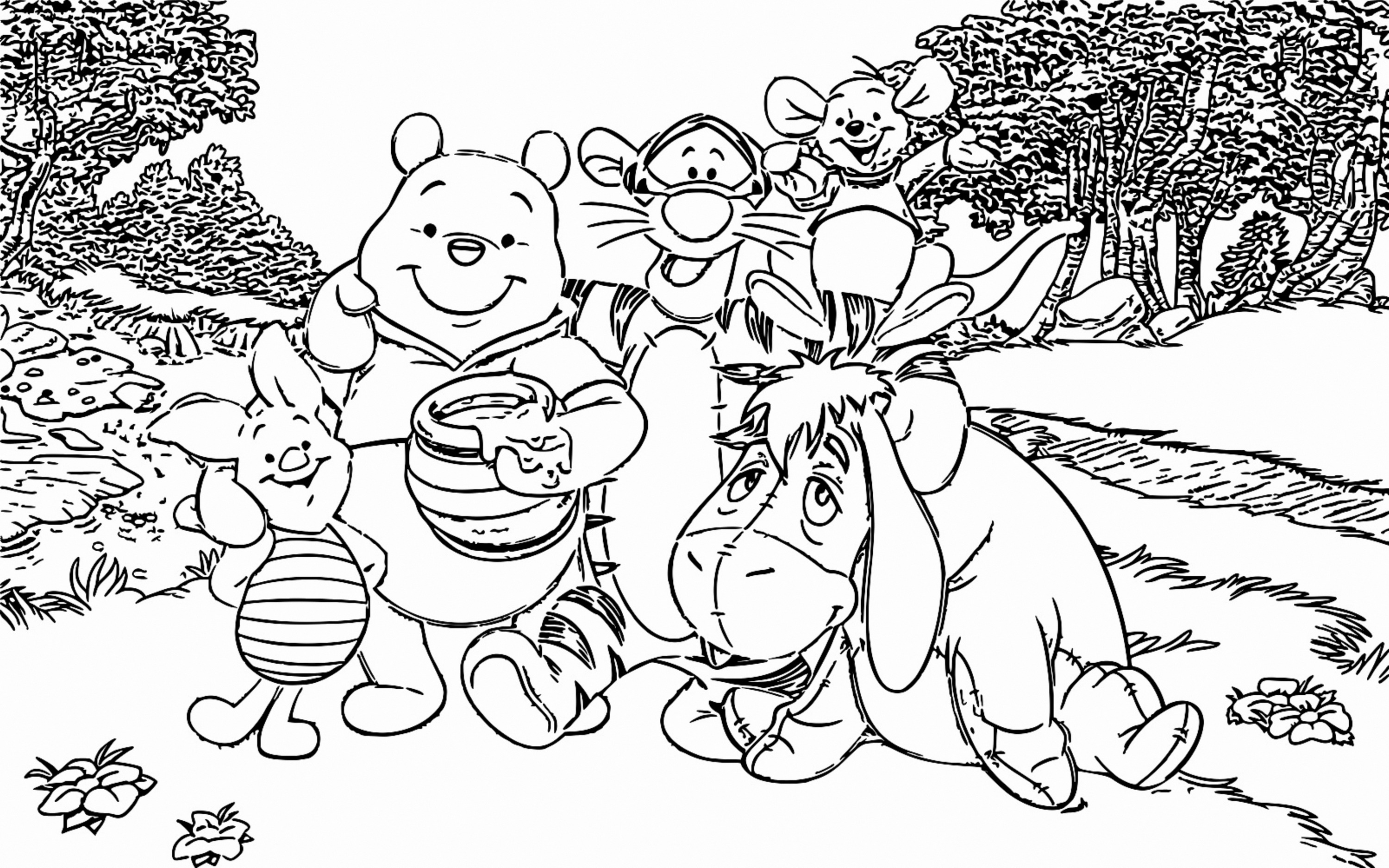 Winnie The Pooh Coloring Page 108