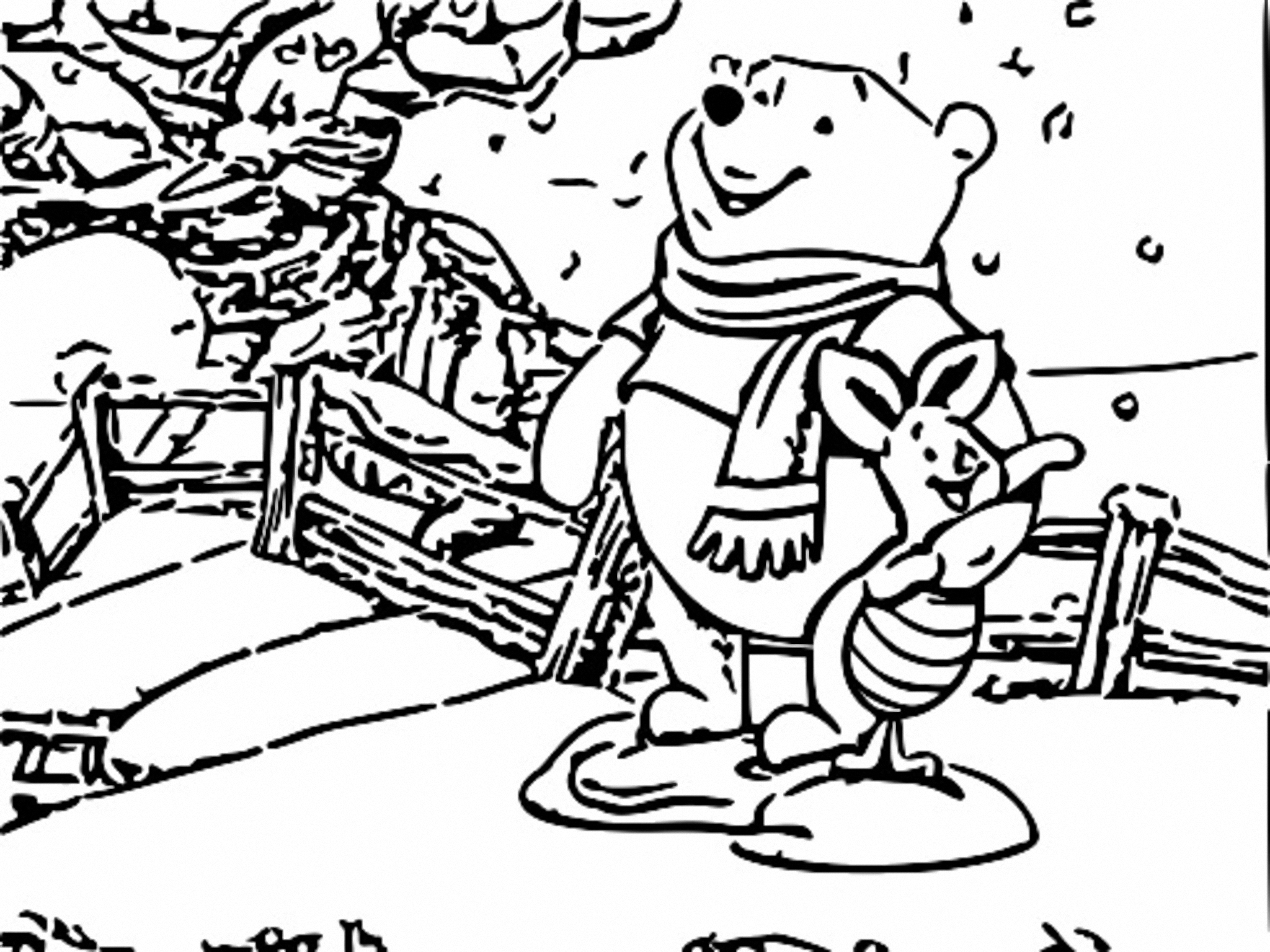Winnie The Pooh Coloring Page 125