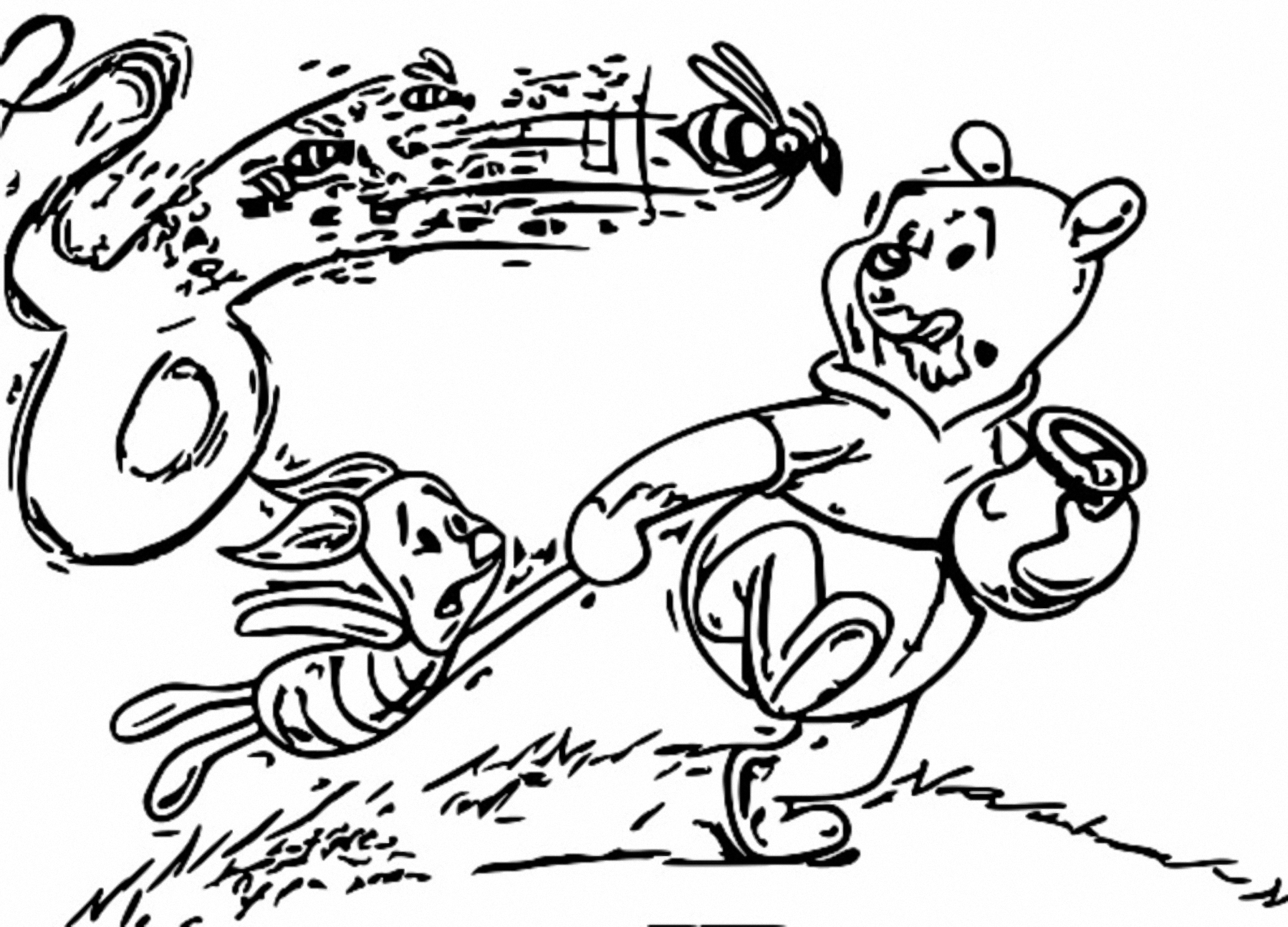 Winnie The Pooh Coloring Page 153