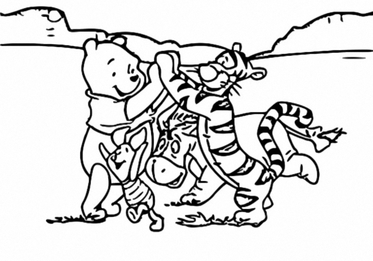 Winnie The Pooh Coloring Page 172