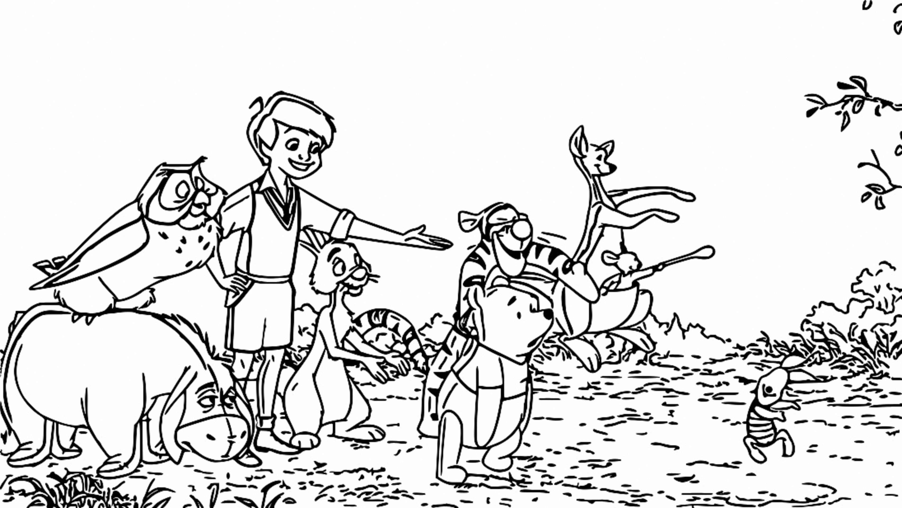 Winnie The Pooh Coloring Page 188