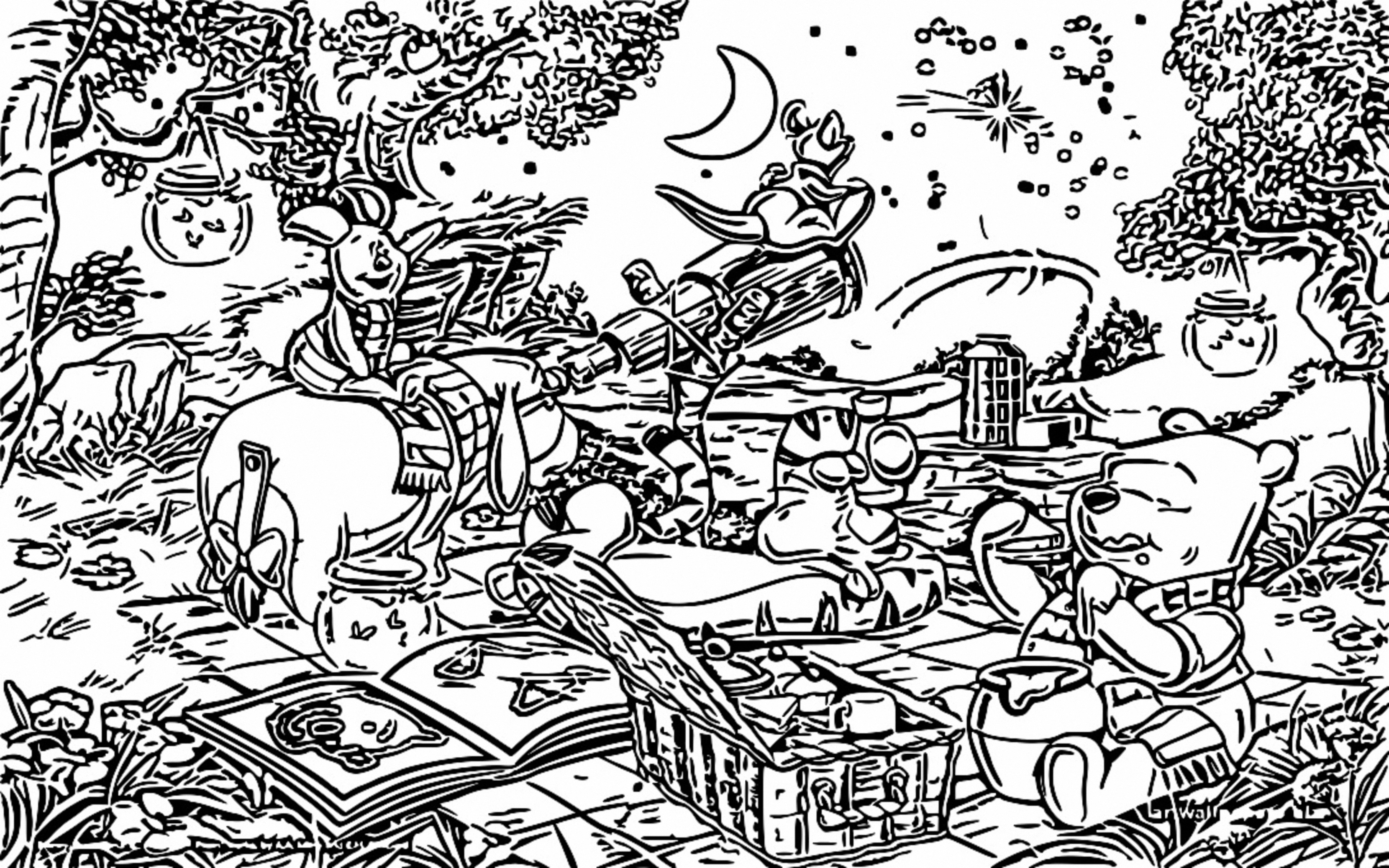 Winnie The Pooh Coloring Page 197