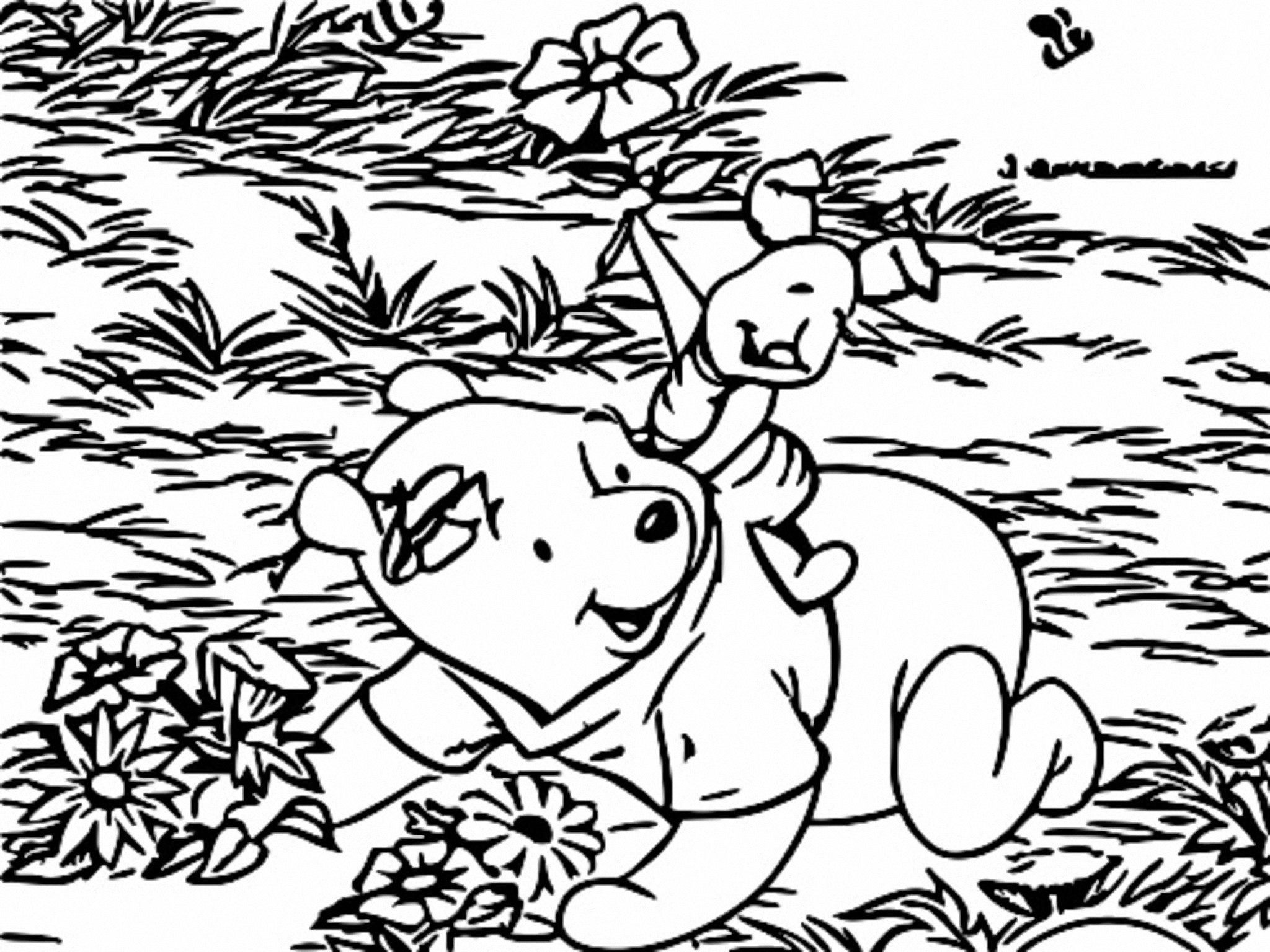 Winnie The Pooh Coloring Page 203