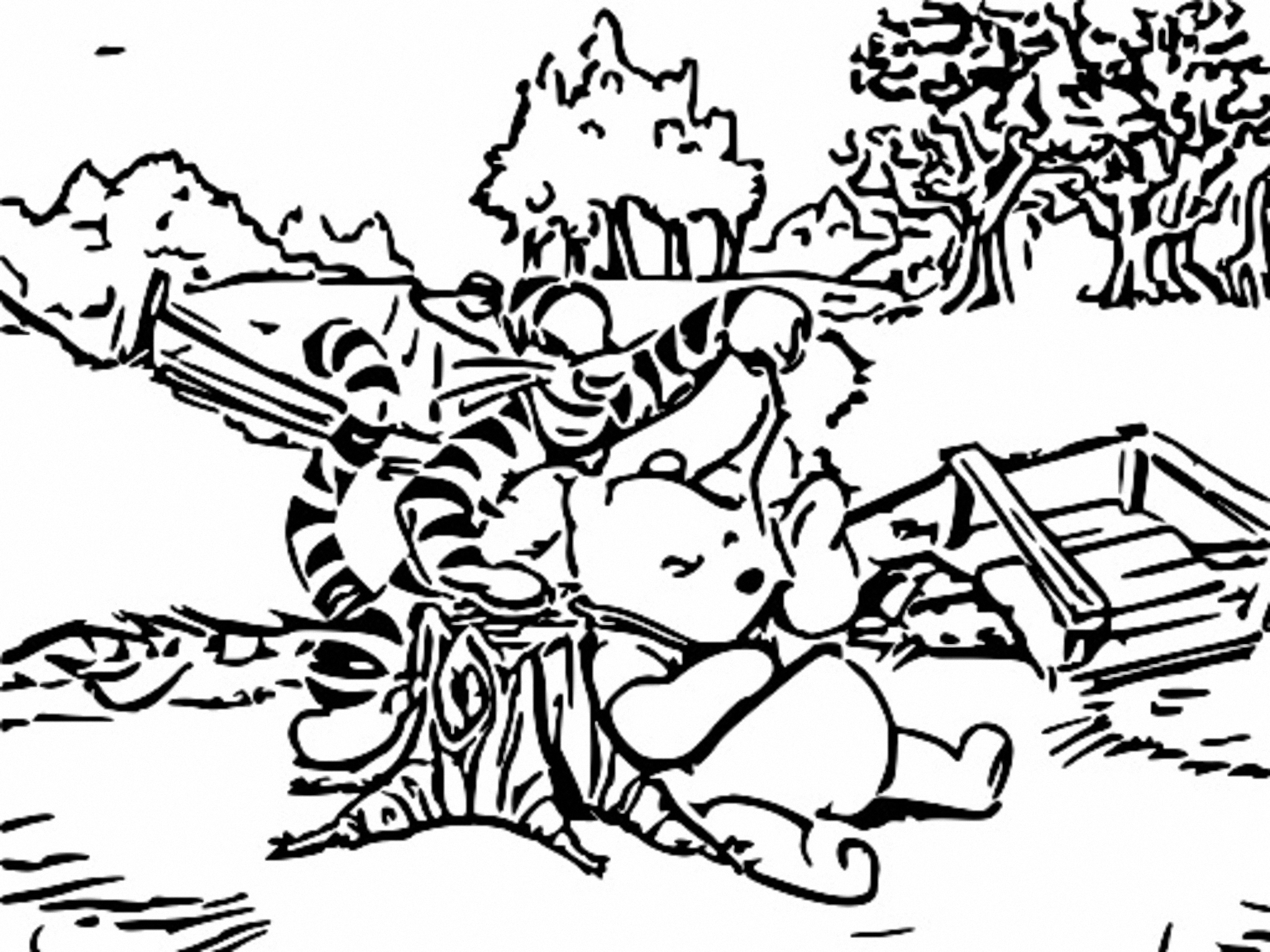 Winnie The Pooh Coloring Page 210