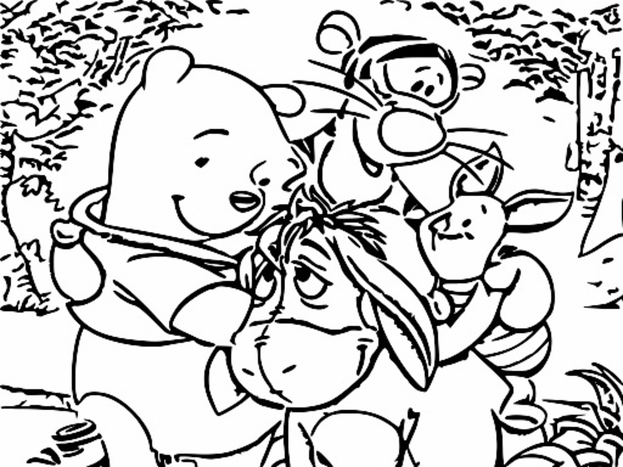 Winnie The Pooh Coloring Page 258