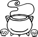 Witch Cauldron   Halloween Drawing Coloring Page