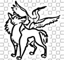 Wolf and the Heron Coloring Page