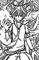 Wolf spirit keito gacha World Portrait Male Anime Character coloring page