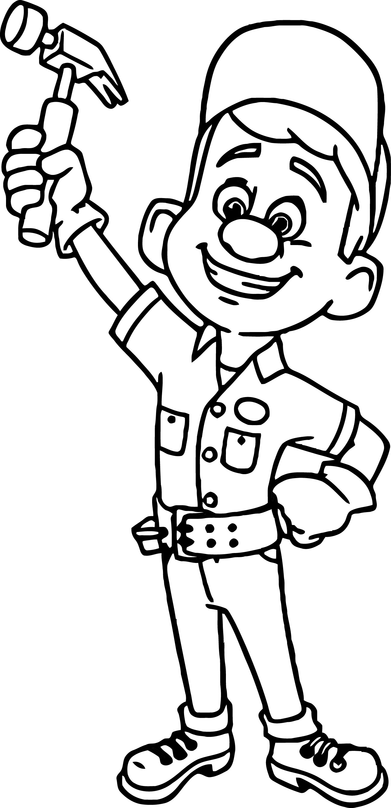 Wreck It  Coloring Page