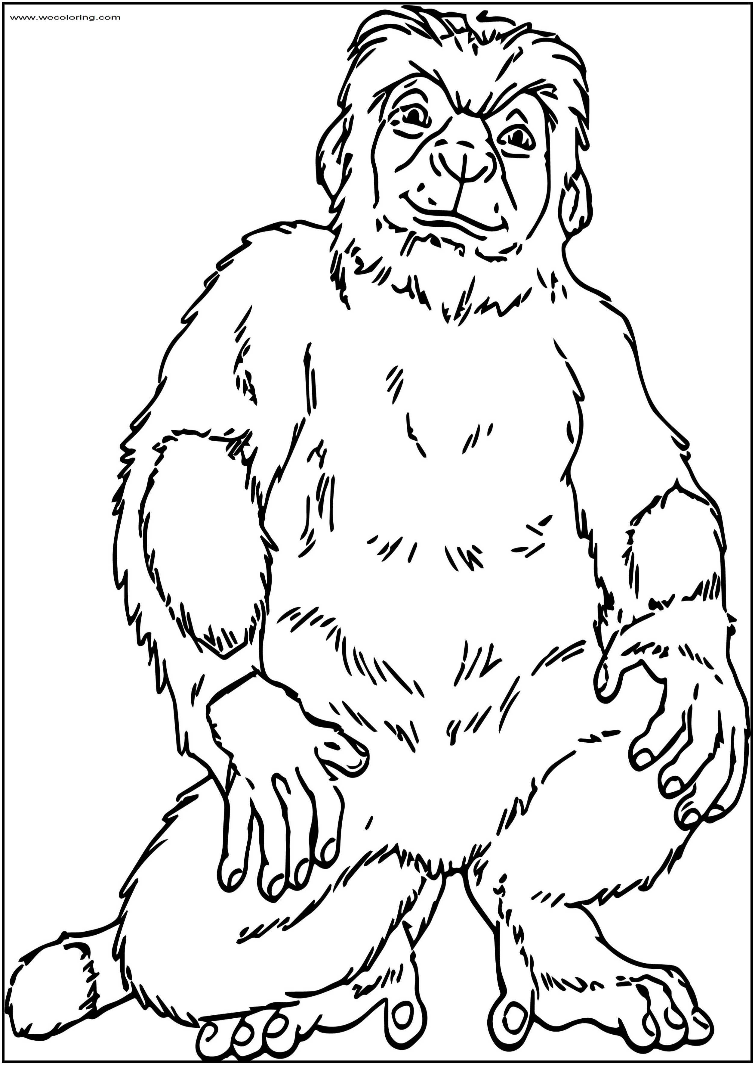Yar Lemur Disney Free Printable Coloring Pages