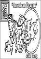 Yotd American Dragon Free A4 Printable Coloring Page