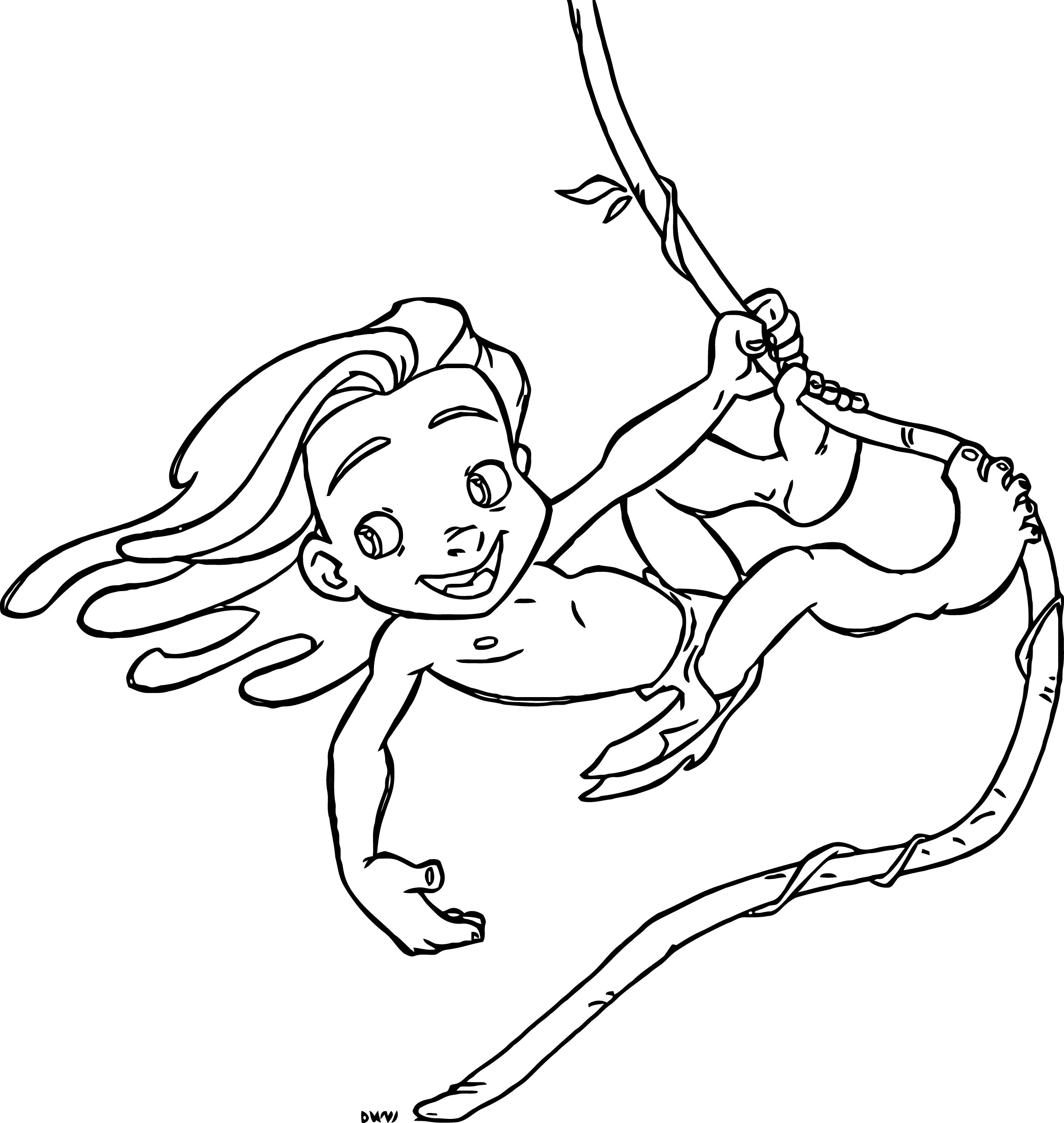 Young Tarzan Fev 4 Coloring Pages