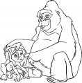 Young Tarzan Kala Tarzan Coloring Pages
