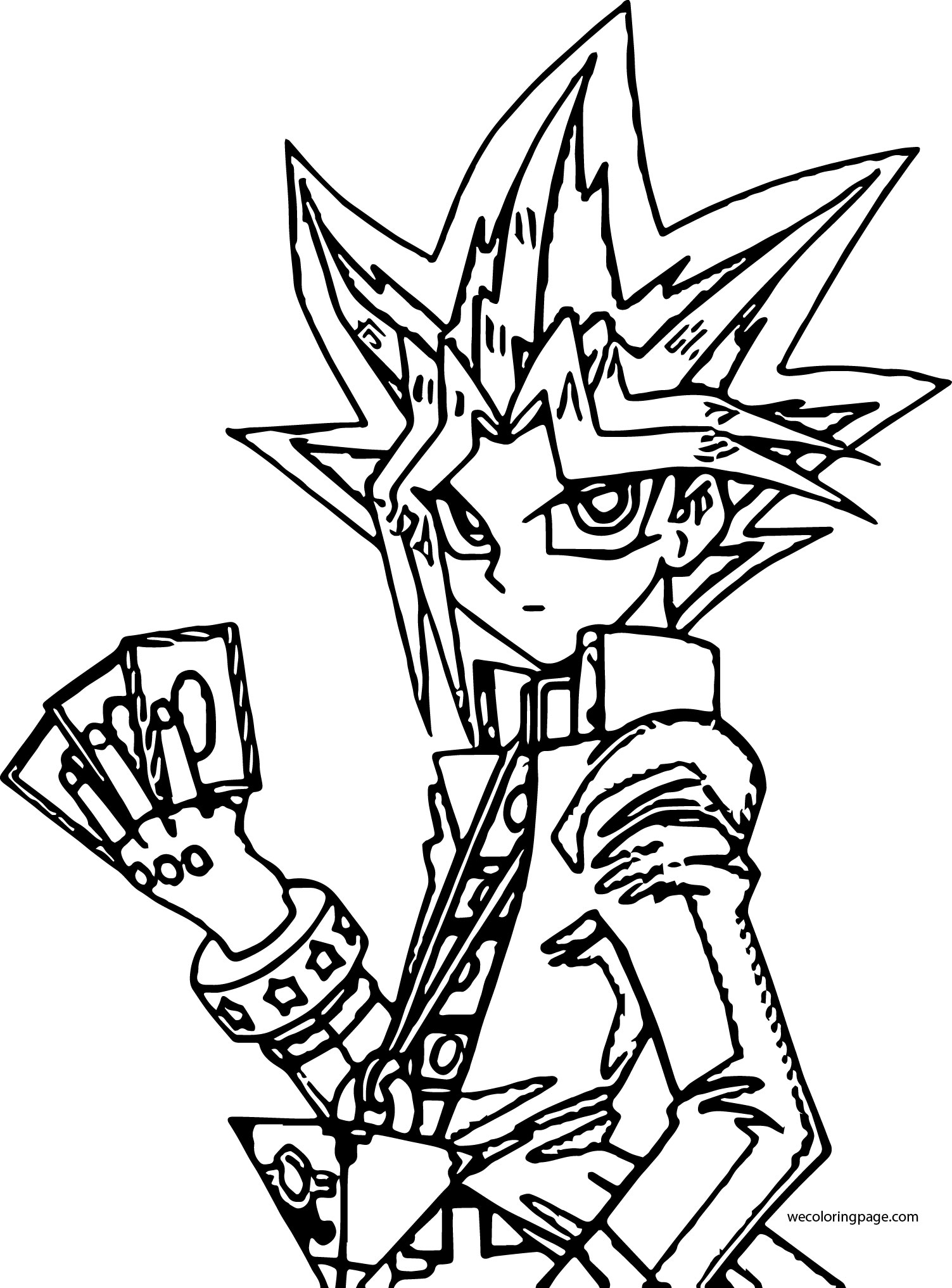 Yu Gi Oh Coloring Page WeColoringPage 131