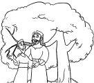 Zacchaeus Jesus Coloring Page WeColoringPage 05