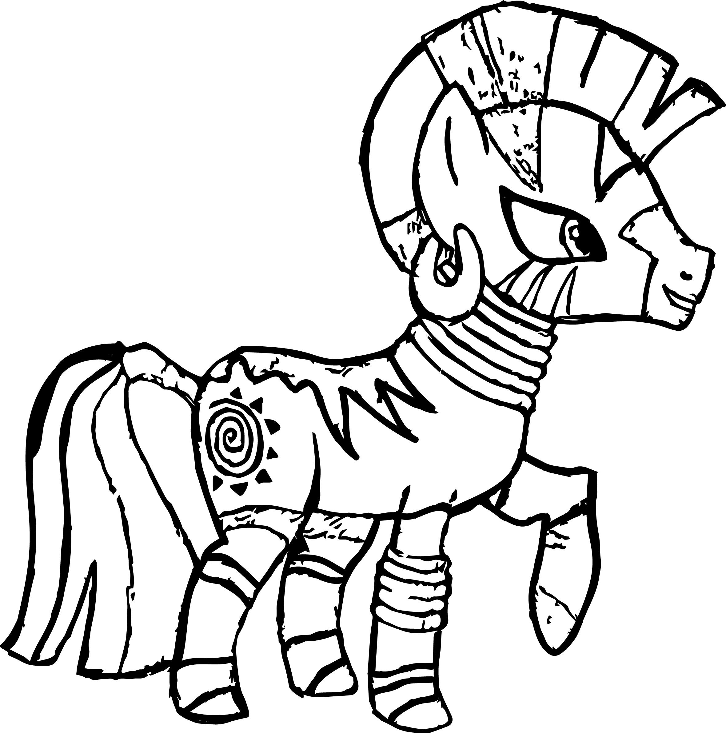 Zecora The Zebra Coloring Page